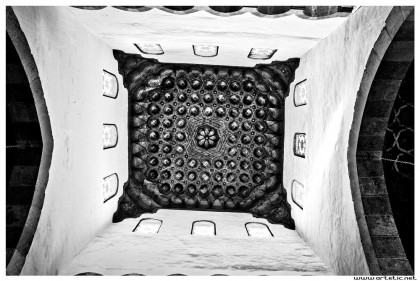 View of the roof of an old and still used mosque in islamic area of Cairo