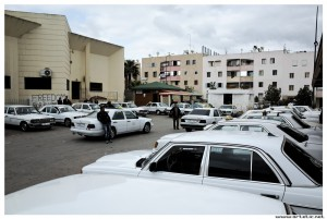 Grand taxi station in Morocco