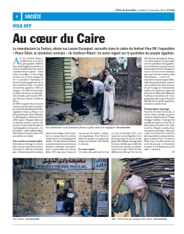 Full-page article about my exhibition at VISA Off exhibition at Perpignan in 2014