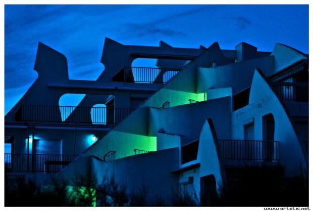 Architecture design in La Grande Motte