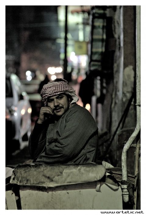 Night thinking in Cairo Streets