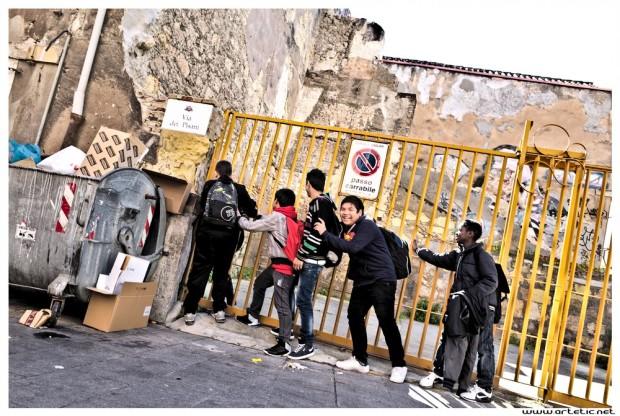 Joy in Sardinia streets