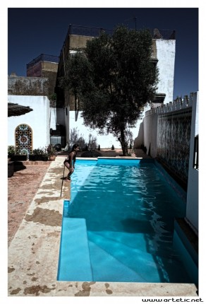 Pool over the roof