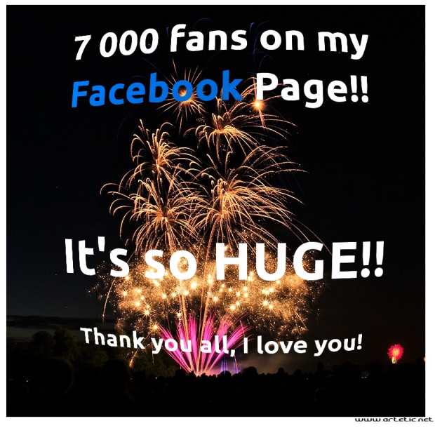 7000 fans, it's so huge!
