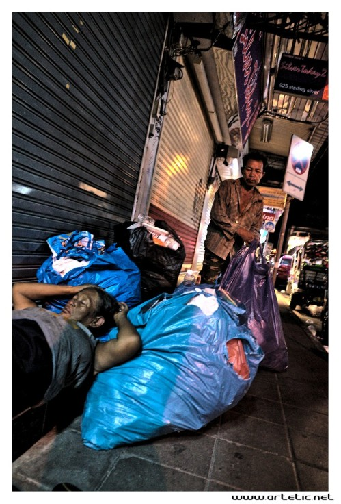 People sleeping on the streets