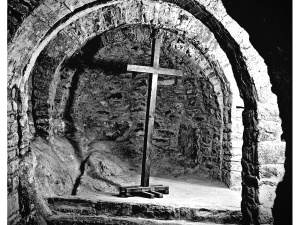 Crypt of the abbey of St Martin of canigou