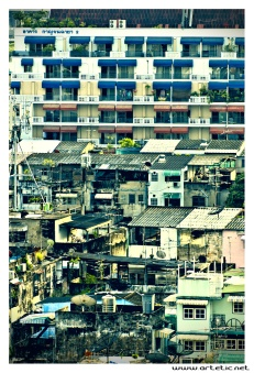 Bangkok seen from the roofs