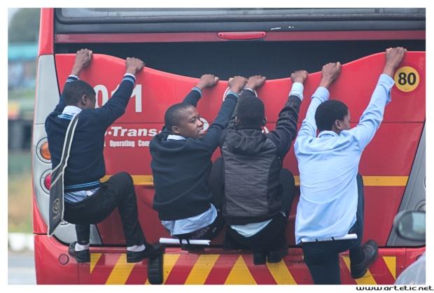 Bus in Soweto