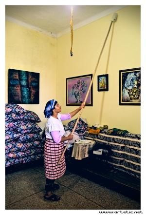 Homework in a house in Meknes