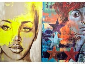 South african paintings in artshop in Johannesburg