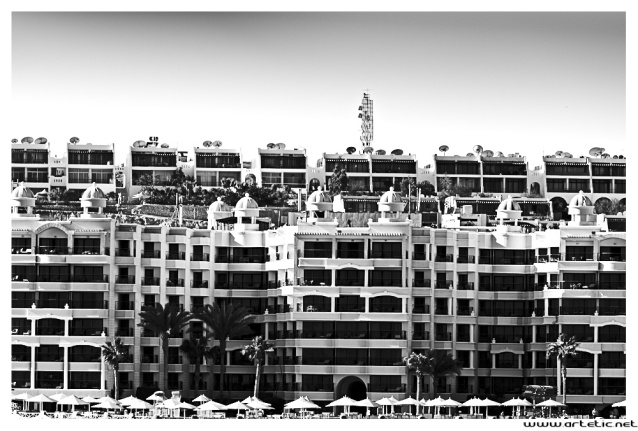 Massive view on resorts in Hurghada