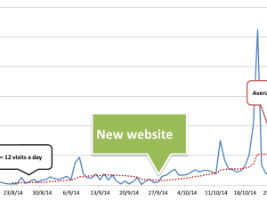 Number of visits a day on artetic website