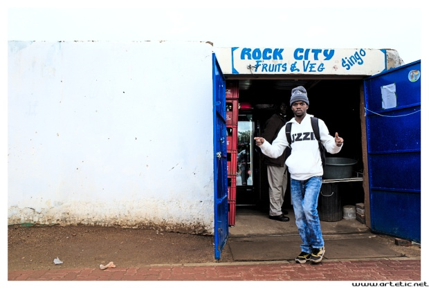 Small vegetable shop in Soweto