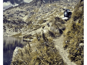 Hiking in the french Pyrenees mountains