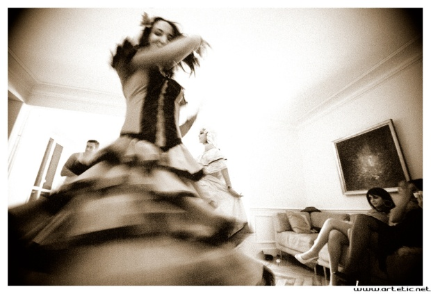 The art of movement in photography during Halloween Party!