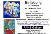 Invitation to attend the opening of the exhibition at Castle Hubertendorf at Blindermarkt austria with PAKS Modern art gallery