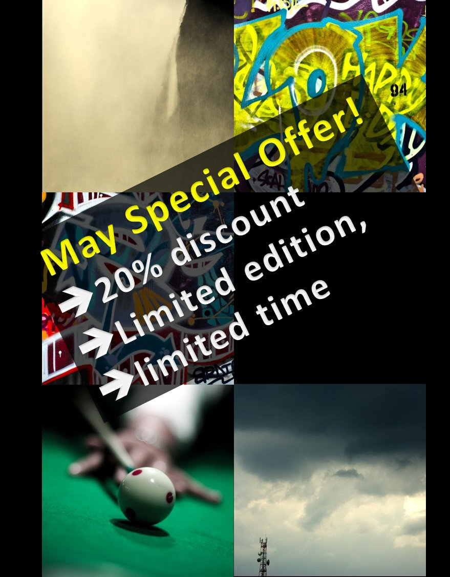 Limited offer May only