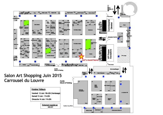 Map of the Paris Art shopping salon