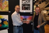 I received my award at the Paris Art shopping salon