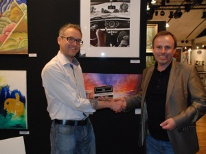 I received my award at the Paris Art shopping salon