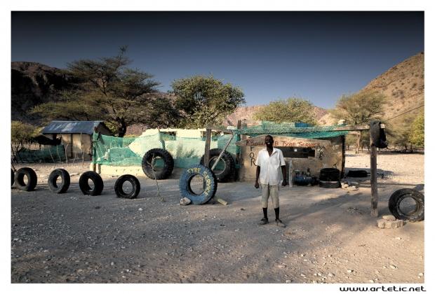 Tyre repair shop in nambia