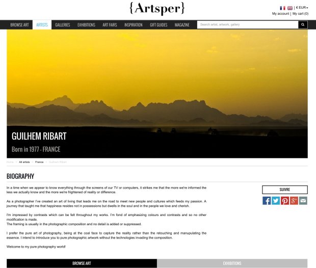 guilhem ribart Pure photography artworks now on sale on artsper online shop gallery
