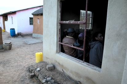 While women hold their celebrations, men have a meeting to discuss about the village