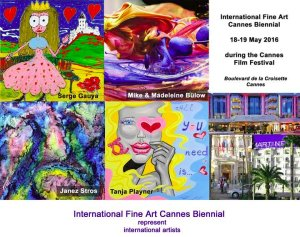 International fine art Cannes biennal guilhem ribart artetic cover